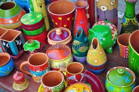 bunte keramik