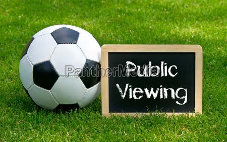 public viewing fussball