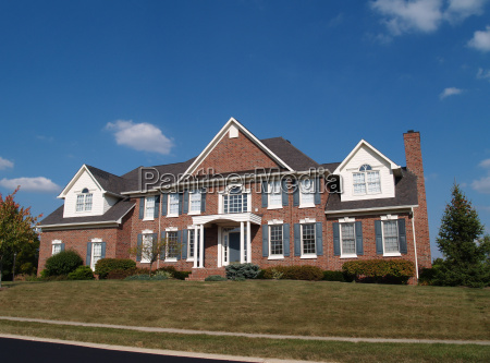 large two story brick home
