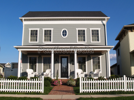 new two story vinyl home with