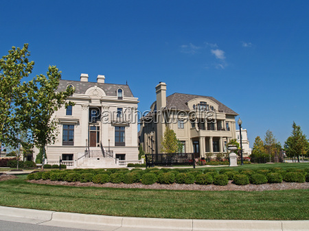 two new huge historical style homes