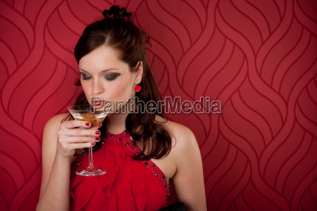 cocktail party woman evening dress enjoy