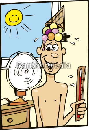 boy and hot weather
