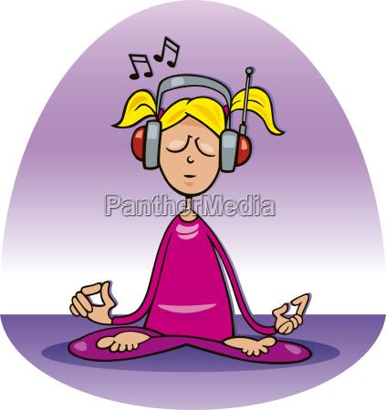 meditating girl
