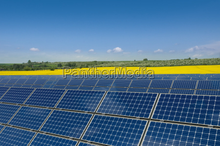 solar panels in front of a