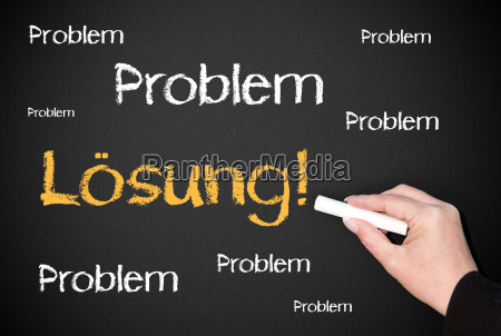 problem solution business concept