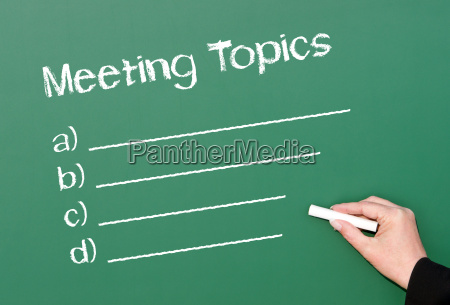 meeting topics meeting agenda