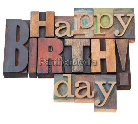 buon compleanno in tipografia