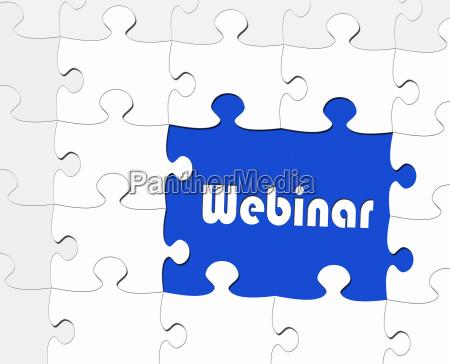 webinar online business concept