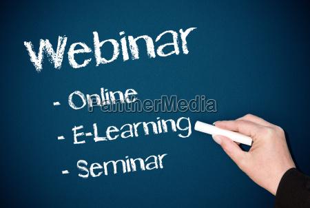 webinar online elearning seminar