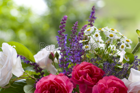 bouquet of rose with lavender