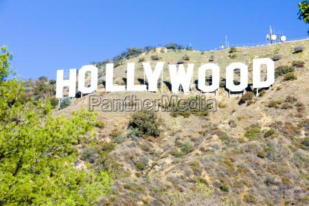 hollywood sign los angeles california usa