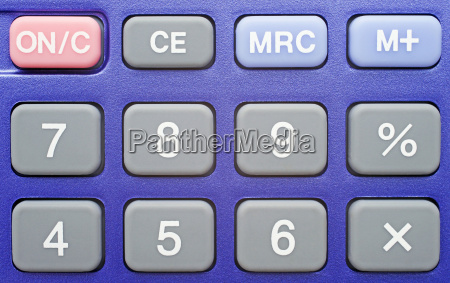 pocket calculator blue
