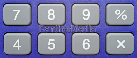 keyboard pocket calculator close up
