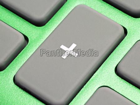 pocket calculator green close up