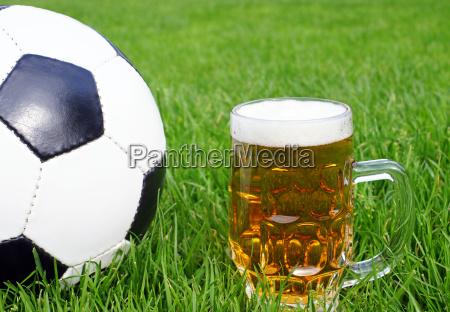 soccer beer fussball