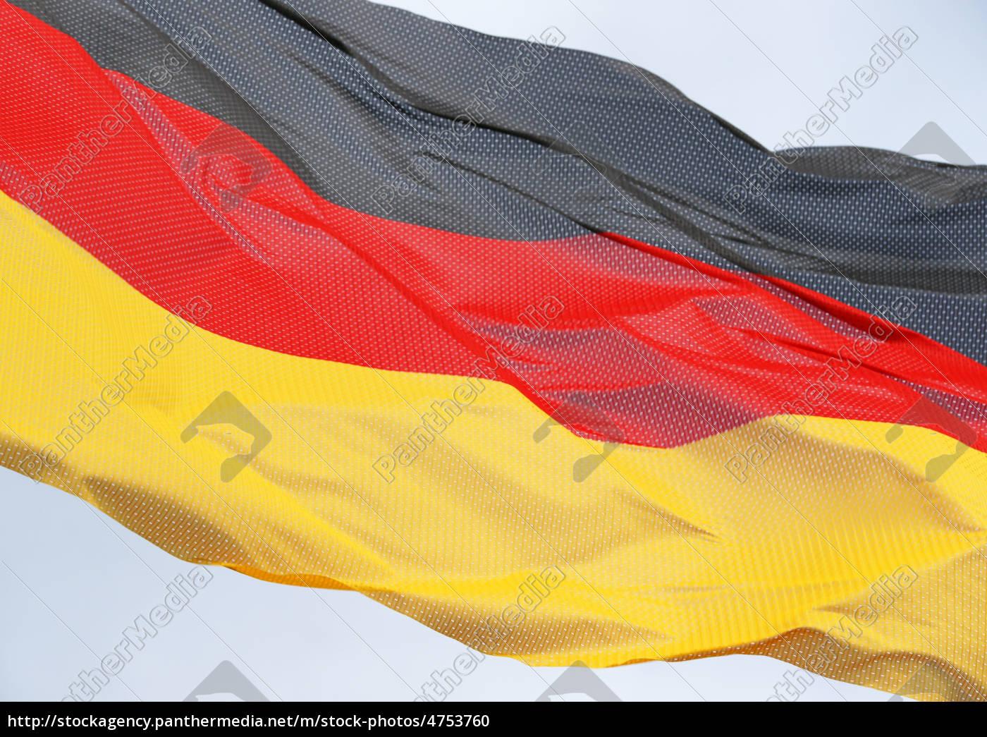 Deutschland Flagge Im Wind German Flag Lizenzfreies Foto