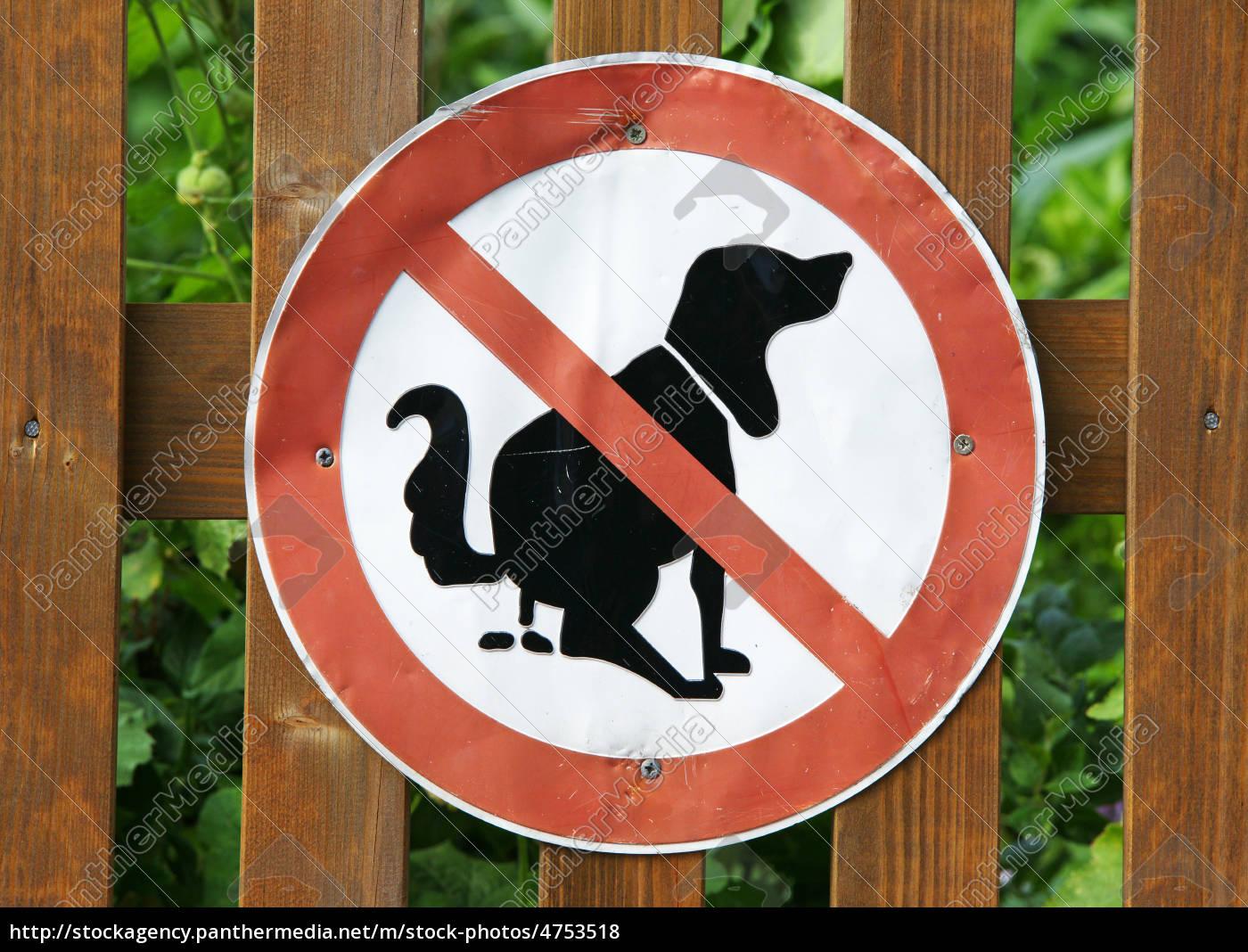Hunde Schild Garten Zaun Stockfoto 4753518 Bildagentur