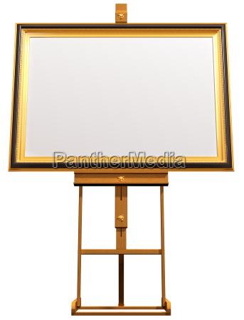 blank bild auf kuenstler staffelei