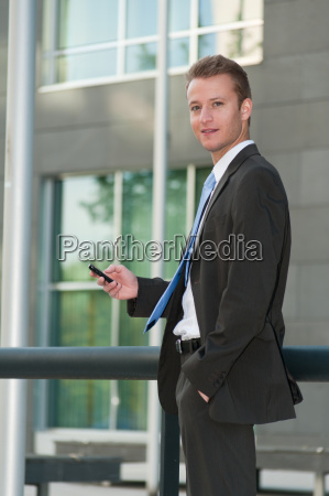young business man with a telephon