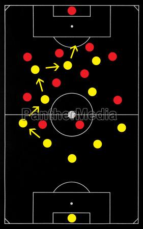 fussball strategie soccer tactics black