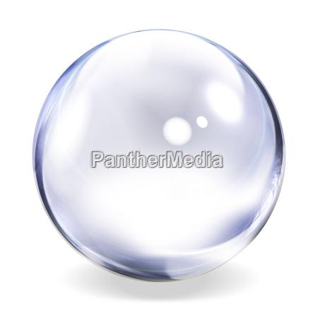 transparente kugel