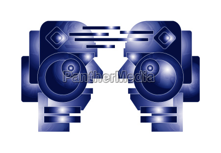 robot heads illustration