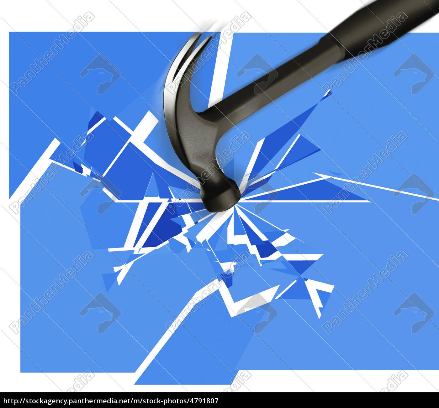 hammer, glasbruch - 4791807