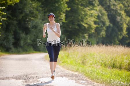 attractive woman in jogging