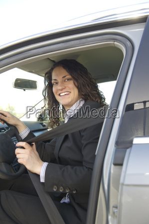 woman straps herself on
