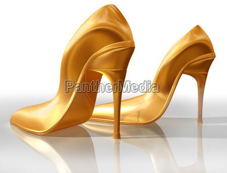 gold, high, heels - 4806350