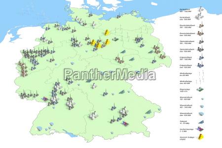 standorte kraftwerke in deutschland im jahr