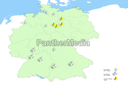 standorte atomkraftwerke in deutschland im jahr