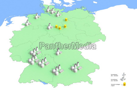 locations nuclear power plants in germany