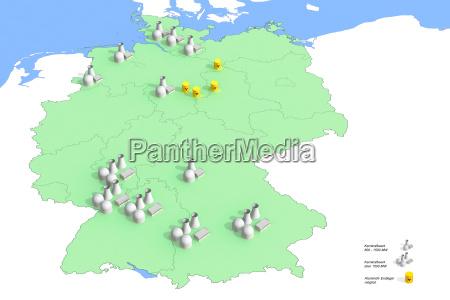 standorte, atomkraftwerke, in, deutschland, im, jahr - 4816144