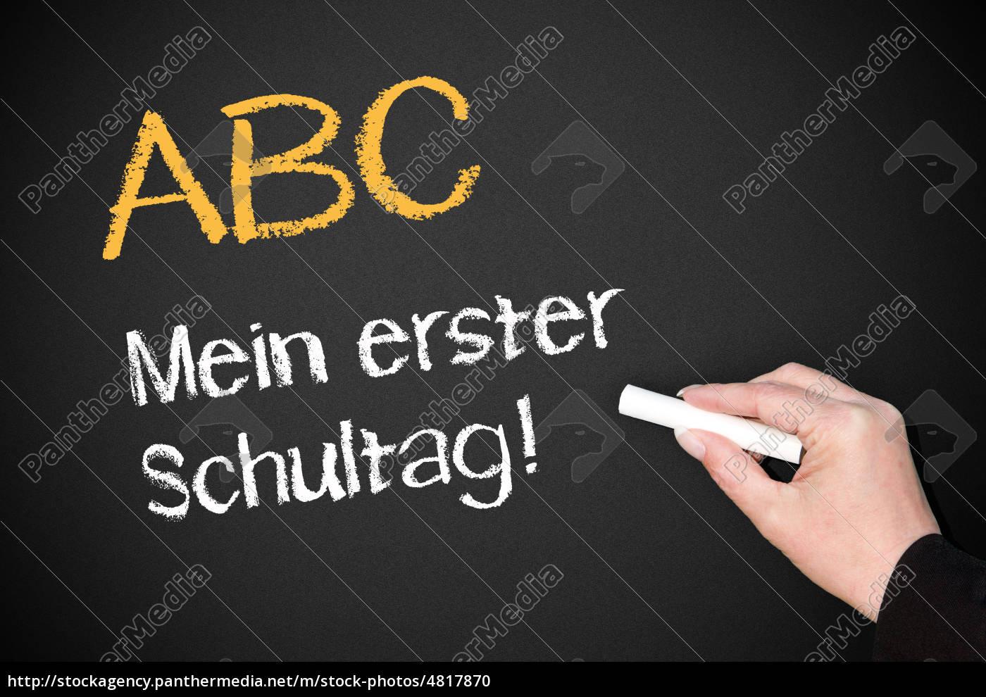 ABC - mein erster Schultag ! - Stock Photo - #4817870 - Bildagentur ...