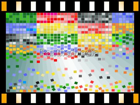 mosaik im filmstrip