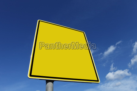 copy space traffic sign