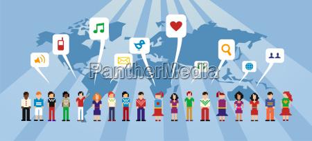 soziale netzwerk konzept
