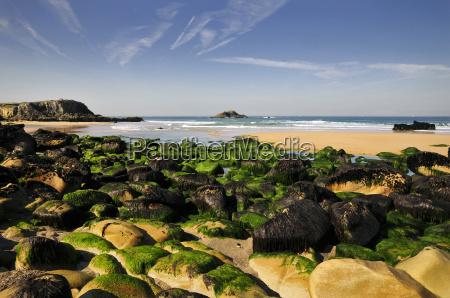 rocks on the beach at quiberon