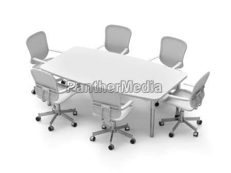 konferenztisch mit stuehlen