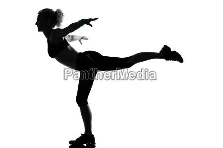 frau workout fitness haltung
