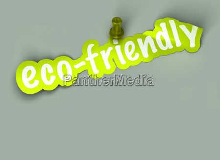 green eco friendly sign