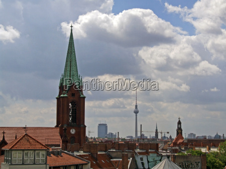 gethsemane church and tv tower germany