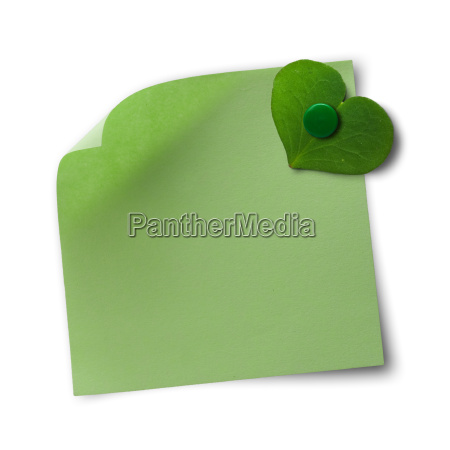 eco friendly green note