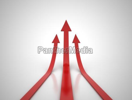 three red arrows illustration