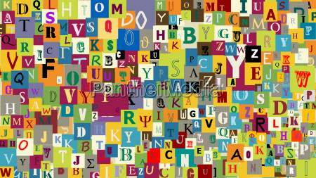 abstract letters background