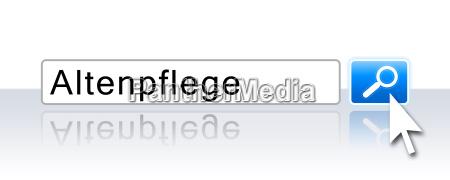 internet suche blau altenpflege