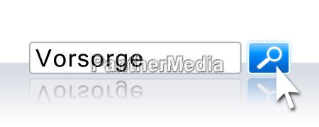 internet suche blau vorsorge
