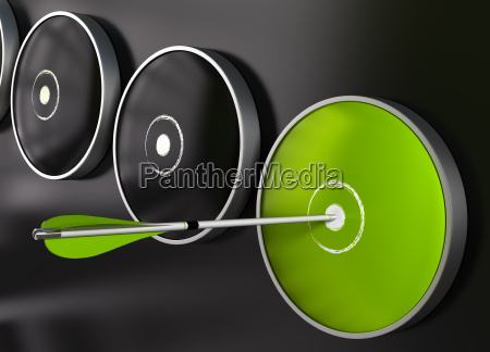 effectiveness green target and arrow
